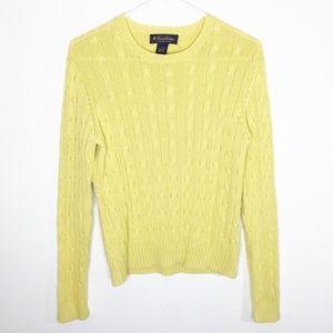 Brooks Brothers Mercerized Cotton Knit Sweater